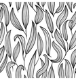 black and white floral seamless vector image