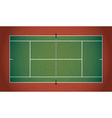 Textured Realistic Tennis Court vector image