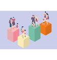 Isometric Infographic Family Types - LGBT included vector image vector image