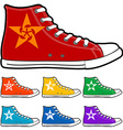 isolated modern color sneakers vector image