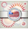 Independence Day card or background July 4 vector image