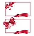 Gift card with ribbon vector image