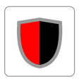 Shield icon red black gray vector image