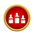 Three winners are in the podium icon vector image vector image