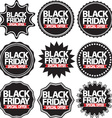 Black friday special offer black signs set vector image