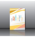 City panorama business card vector image
