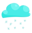 Cloud snow icon cartoon style vector image
