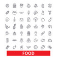 food eating tasting pizza fish meat bakery vector image