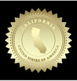 Gold star label California vector image