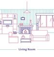 Living Room Line Design vector image