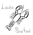 lobster icon seafood sign fish menu restraunt vector image