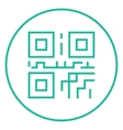 QR code line icon vector image