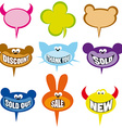 selling labels and bubbles vector image