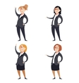 Set of businesswomen vector image