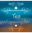 Tea advertising design vector image