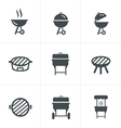 The grill icon Barbeque symbol vector image