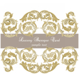 Uxury Gold ornament card vector image