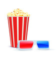 vector illustration of cinema background with 3d g vector image