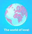 world of love vector image