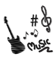 hand drawn music doodles vector image vector image