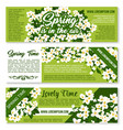 spring time floral greeting banners vector image