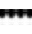 Gradient halftone dots horizontal background vector image