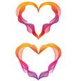abstract ribbon hearts vector image vector image