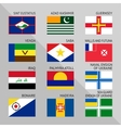 Flags of world flat Set number 17 vector image