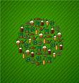 St Patricks Day Green background trefoil icon vector image