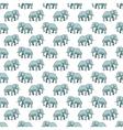 Elephant pattern vector image