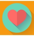 Heart with long shadow Flat designed style vector image