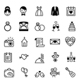 Icons preparation for the wedding vector image