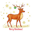 sketch christmas deer vector image