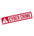 Cyber Crime rubber stamp vector image