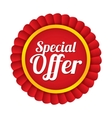 Special offer label Red sale sticker Price tag vector image