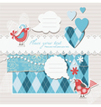 digital scrapbook vector image