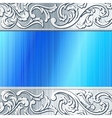 blue and brushed steel futuristic banner vector image vector image