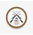 Emblem hunting club vector image