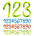 Color sets of ribbon numbers vector image vector image