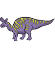 lambeosaurus dinosaur cartoon vector image