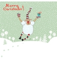 Merry card with sheep vector image