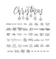 merry christmas brush lettering typography 50 vector image