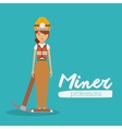 miner profession design vector image