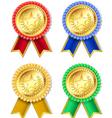 ribbons badge star vector image