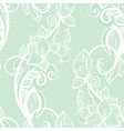 seamless pattern white lace on mint green vector image