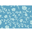 blue floral seamless texture vector image vector image