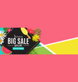 summer sale abstract banner background vector image