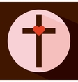 cross icon vector image