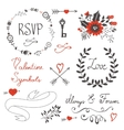 Love set with vector image