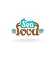 Seafood logo vector image